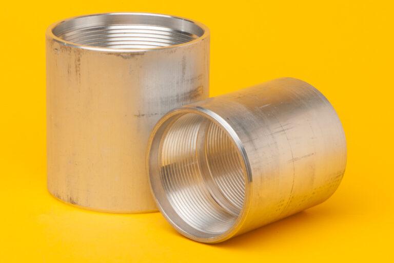 (ASP) HDPE - PVC Transition - Aluminum Coupler